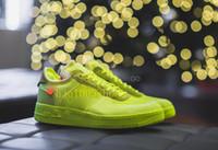 ingrosso scarpa da running nero verde-Off-White x Nike Air Force 1  Nuovi arrivi Forze Volt Scarpe da corsa Donna Mens Scarpe da ginnastica Forced One Sports Skateboard Classic 1 Verde Bianco Nero Warrior Sneakers