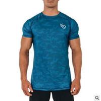 militar homens camisa t venda por atacado-Novo Designer Mens Militar Do Exército T Shirt 2019 Homens Soltos VQ T-shirt O-pescoço Com Plus Size Tshirts de Manga Curta