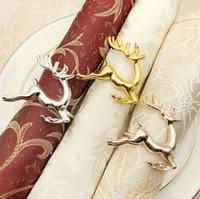 servilletas de colores al por mayor-Deerlet Servilleteros Anillos Servilletero de 3 colores para bodas Fiesta de Navidad Cena occidental Toalla Anillo Decoración de la mesa del hotel