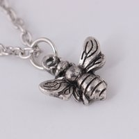 милые животные свитера оптовых-Творческий ретро милые животные Bee кулон ожерелье личности насекомых свитер цепи ювелирные изделия унисекс ожерелье