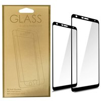 Wholesale screen covers free for phone for sale – best Phone Screen Protectors for Moto G6 Play E5 Play Plus Full Cover Black Tempered Glass