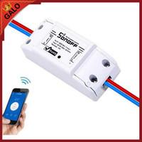 interruptor de control inalámbrico al por mayor-Sonoff Basic Wireless Wifi Switch para Smart Home Automation Relay Module Control remoto de IOS Android con manual de usuario