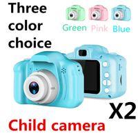 X2 Children's camera 1080P DH 2 inch Cartoon Cute Camera Kid Toy Gift For Children Toddler DHL free 360 degree Mini Digital Camera