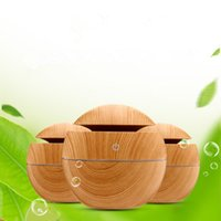 Wholesale living color candles resale online - Grain Essential Oil Diffuser Ultrasonic Aromatherapy Bamboo Color USB Humidifier ml With Changing Night Lights EEA631