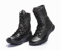 ultra high boots 도매-2018 CQB 초경량 전투 부츠 여름 높은 최고 사막 신발 남성 전술 전투 보안 육군 부츠