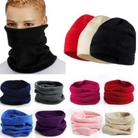 Wholesale football men beanies resale online - Multi Function Magic Scarf Matural Stretch Soft Fleece Scarves Hats For Men Women Keep Warm Neckerchief Wind Proof Mask ZZA929