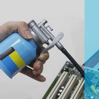 máquina de pintura a óleo venda por atacado-Lubrificador Bomba Mangueira Máquina Oil Pot graxa Spray de Paint Cans Gun Repair Kit Ferramenta de Mão de Alta Pressão Airbrush Chrome Diy corpo