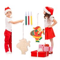 Wholesale colored ornaments for sale - Group buy Taoup Merry Christmas Ornaments Drawing DIY Colored Christmas Decoration for Home Xmas Tree Ornaments Handmade Creative Crafts