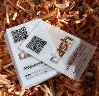 impresión de tarjetas de plástico al por mayor-Tinta blanca Tarjeta de visita transparente / Tarjetas de visita personalizadas impresión / tarjetas de visita de plástico transparente