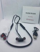 Wholesale iphone 5a for sale - In stock B x dual earphones A quality wireless headphones sport running headsets with mic for iphone car
