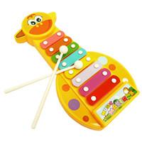 детский бадминтон оптовых-Детские игрушки Красочные Детские Детские музыкальные игрушки 8-нотный ксилофон пластиковый инструмент развития мудрости игрушки раннего образования милый