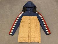 naylon kış ceketleri toptan satış-Erkekler Uzun Ceket 2019 Kış Yeni Moda Trend Jakarlı Naylon Uzun Kol Kapşonlu Zip Ceket BOYUT M-3XL MEN'S KAPLAMA