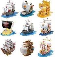 montieren sie schiffsmodelle großhandel-Japanische Anime One Piece the Grand Ship Sammlungen Assembled Toy Modell Tausend Sunny Going Merry Ship Modell