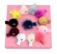 Wholesale kids wigs resale online - pure color kids hair band headband Children s hair accessories headdress water hair ball clip rope cute girl baby FZP233