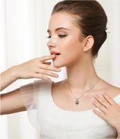 Wholesale korean silver heart necklace resale online - Nlm99 sterling silver jewelry fashion women lovely beautiful pendant necklace Korean jewelry item