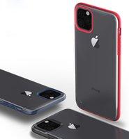 корпус телефона с отпечатком пальца оптовых-Роскошная броня Матовый Анти Отпечатки Прозрачный ТПУ PC Phone чехол для iPhone 11 Pro Max XR XS MAX 8 7 6 Plus