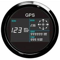 aydınlatma antenleri toptan satış-Yeni 7 Arka ışıkları 85mm Tekne Araba GPS Kilometre Dijital LCD Hız Ölçer Kilometre Sayacı Ders GPS Anten ile