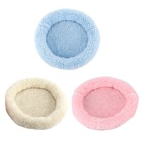 Wholesale colorful pet beds resale online - Soft Pet Dog Cat House Bed Pet Mat Winter Warm Fleece Cozy Colorful Strip Dog For Small Cushion Pad Mat Seat Cover