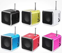 Wholesale mini laptop mp3 for sale - bluetooth speakers TD V26 Mini Speaker Portable Digital LCD Sound Micro SD TF FM Radio Music Stereo Loudspeaker for Laptop Mobile Phone MP3