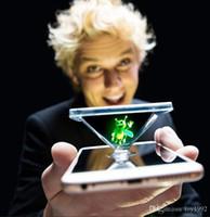 luz da lâmpada do dedo venda por atacado-Magia luzes 3D Modelos de Explosão Local Bee Finger Adereços Mágicos Luz Do Telefone Móvel Projeção Holográfica Fluorescente Prop Lâmpada Brinquedos