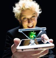 fingerlampe licht großhandel-Magische lichter 3d explosion modelle spot bee finger zauberrequisiten licht handy holographische projektion fluoreszierende prop lampe spielzeug