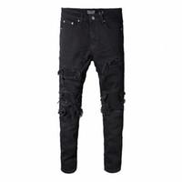 eski giyim tasarımcıları toptan satış-Miri Toptan-giyim tasarımcısı pantolon tahrip erkek ince kot düz bisikletçinin skinny jeans erkekler yırtık kot temsil
