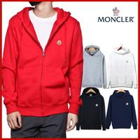 fermuarlı hoodie giyim eşyası hoodies sweatshirt toptan satış-2019 moda tasarımcısı hoodie fermuar erkek ve kadın giyim, 100% pamuk, sonbahar / kış hoodie kazak, ücretsiz kargo