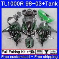 Wholesale 98 srad fairings for sale - Group buy Tank For SUZUKI SRAD TL1000R HM Green flames hot TL R TL1000 R TL R Fairing