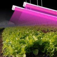 ingrosso t8 led ha coltivato tubi leggeri-2019 LED coltiva la luce spettro completo ad alto rendimento Lampadina Linkable Progettazione Integrata T8 + apparecchio Impianto luci per le piante d'2ft-8ft tubo v forma