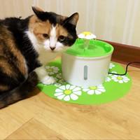 dispensador automático de bebidas para animais de estimação venda por atacado-Cat Dog Automática Elétrica Pet Fountain Beber Tigela Pet Dispenser Beber Dispensador De Água De Alimentação Do Filtro de Gato Alimentador de Produto