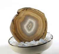 jade cornalina venda por atacado-Natural Ágata Branca Geode Fatia copo adiabático Mat Placa De Cristal Jade Cornalina Coaster Espécime Mineral Decoração Presente
