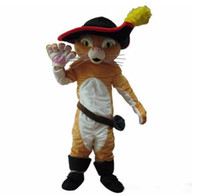 Wholesale hot pussy for sale - Group buy Hot sale costumes Puss In Boots Mascot Costume Pussy Cat Mascot Costume