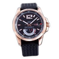Wholesale luxury watches miglia for sale - Best Edition Miglia GT XL Rose Gold Real Power Reserve Black Dial ETA A2824 Automatic Mens Watch Black Rubber Strap New FK e05