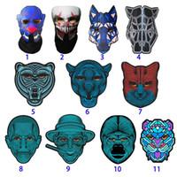 3d лица оптовых-Хэллоуин Полнолицевая Маска Танца Голоса LED Control Party Маски Маскарад 3D Маски Животных