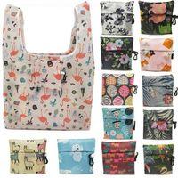 nuevos bolsos de moda al por mayor-Nuevo bolso de compras portátil Bolso de moda y respetuoso con el medio ambiente Bolso de almacenamiento plegable de poliéster T9I0087