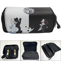 Wholesale pu cosmetic bags cases for sale - Group buy Anime Danganronpa Monokuma Pencil Case Stationery Bag Cosmetic Bags for Students Man Woman Cartoon Pencilcase Drop Shipping