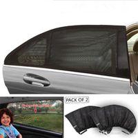 selbstvorhang sonnenschirm groihandel-Car-Styling Auto Sonnenschutz Fensterabdeckung Sonnenschutz Vorhang UV-Schutz-Schild-Masken Mesh-Staub-Auto-Fenster-Ineinander greifen Hot Verkauf