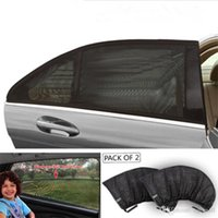 cortina de sol al por mayor-Ventana cortina de ventana de coche-Car Styling sol cubierta Cortina Parasol protección UV visera del protector de malla de malla Polvo caliente de la venta de coches