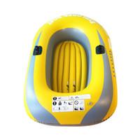 gummiboot pvc großhandel-Summer Rubber boat Schlauchboot PVC Black Comfort Grips Schlauchboot für 2/3/4 Personen