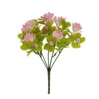 taklit çiçekler toptan satış-Çok Renkli Plastik Taklit Çiçek Sprey Renk Yapay Succulents Kapalı Ve Açık Ömür Bitki Süslemeleri Sıcak Satış 2 8mxb1