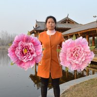 Wholesale peony flowers resale online - Handmade Peony Flowers Umbrella Resuable Eco Friendly Wedding Ornaments For Kids And Women Dance Performance Props Fashion rc4 X9
