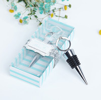 Wholesale crystal wedding giveaways for sale - Group buy Crystal Diamond Ring Wine Bottle Stopper Party Favors Wine Stoppers with Gift Package Wedding Favors Gifts Giveaways