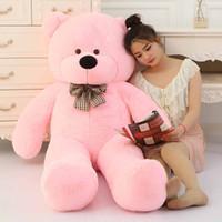 teddy-puppe große größe großhandel-Riesen Teddybär 200cm / 2m riesig groß groß Plüschtiere Plüsch lebensgroße Kind Kinder Babypuppen Liebhaber Spielzeug Valentinstag Geschenk