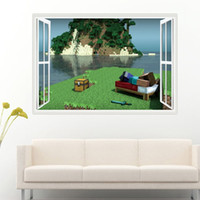 Wholesale games stickers resale online - Seaside Battlefield Wall Sticker in Game Decor for Home Decoration