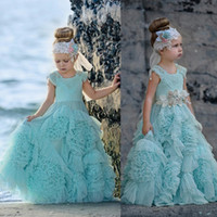 Wholesale new special dress for occasions resale online - New Dollcake Flower Girl Dresses Special Occasion For Weddings Ruffled Kids Pageant Gowns Flowers Floor Length Lace Party Communion Dress