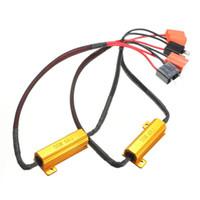 drl h7 toptan satış-2X Hata Ücretsiz Canbus H7 50 W 6Ohm Araba LED Far DRL Sis Işık Yük Dirençleri Kablolama Canceller Dekoder