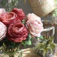 ingrosso fiore da tavola artificiale da tavola-11 centimetri diametro singolo pezzo di peonia di seta fiori artificiali centrotavola per sala da pranzo fiori decorativi di nozze decorazioni per la tavola casa