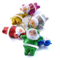 mehrfarbige partytaschen großhandel-6 Teile / beutel Nette Weihnachtsbaum Dekoration Anhänger Multi-Color Weihnachtsmann Party Snowma Weihnachtsbaum Hängen Ornamente Dekor für Zuhause