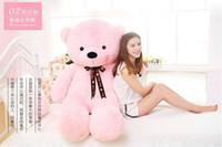 großer weicher riesen-teddy großhandel-Riesen Teddybär Kawaii Groß 60cm 80cm 100cm 120cm Plüschtier Groß Umarmung Bär Chrildren Kinder Puppe Geburtstagsgeschenk