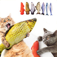 Wholesale pet mice toys resale online - Plush Creative D Carp Fish Shape Cat Toy Gift Cute Simulation Fish Playing Toy For Pet Gifts Catnip Fish Stuffed Pillow Doll